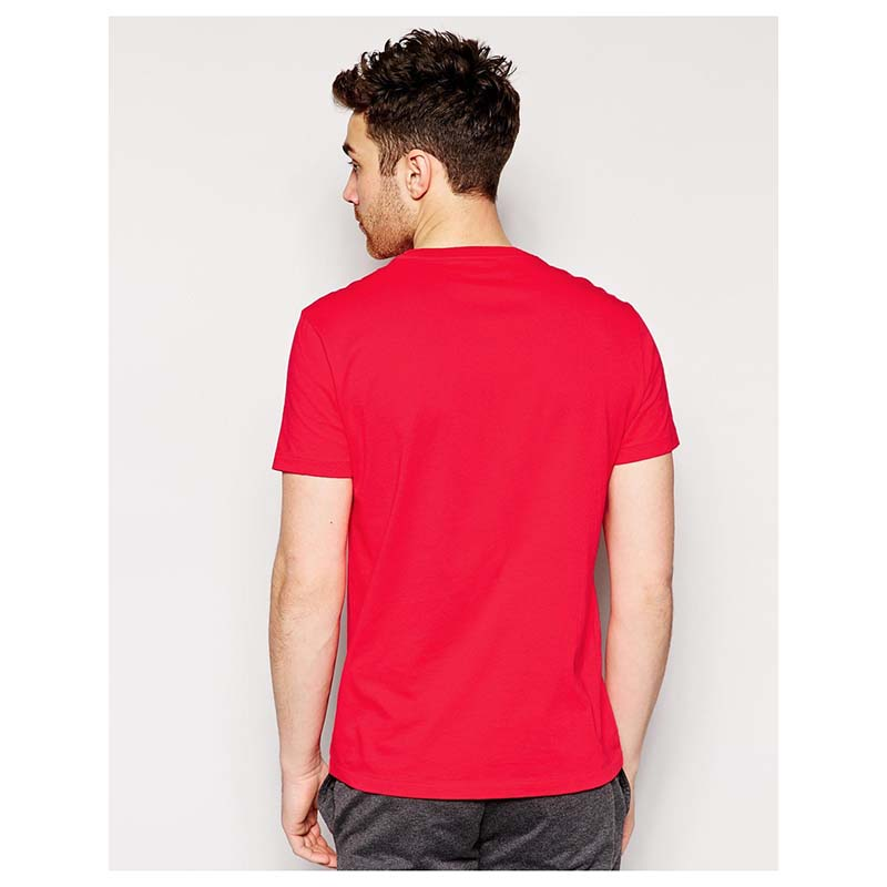 Men's Red Crew Neck T Shirt large 2
