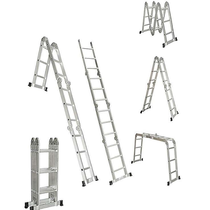 Adjustable Ladder 5 7 M With Plate large 1