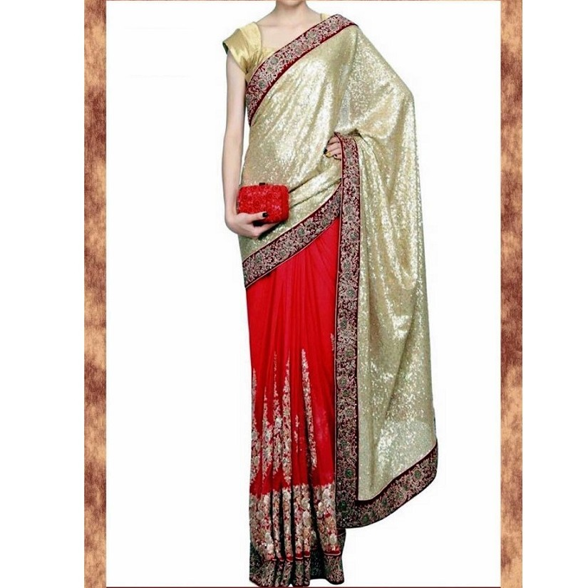 Heavy Designer Wear Saree SR1440 large 1