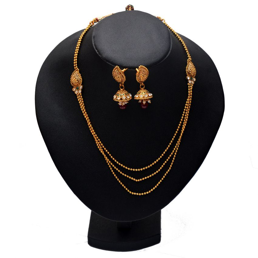 Style Hollywood Gold Plated Necklace Set large 1
