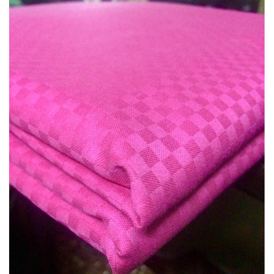 Self Checkered Hot Pink large 1