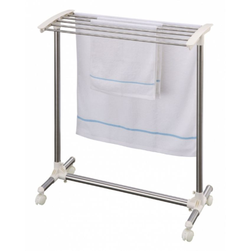 Movable And Foldable Stainless Steel Towel Rack large 1