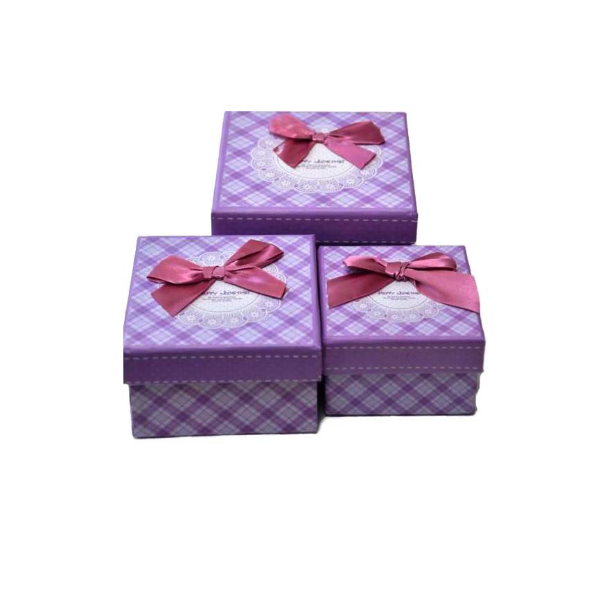 Purple Gift Box 3 Pcs Set large 1