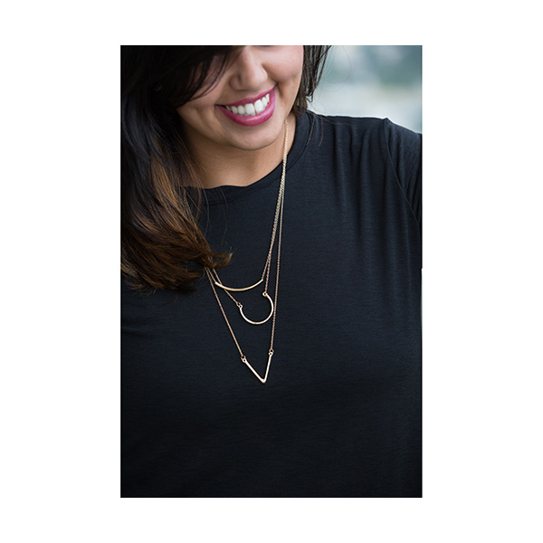 Silver Geometrical Layered Long Chain LCNSG large 2