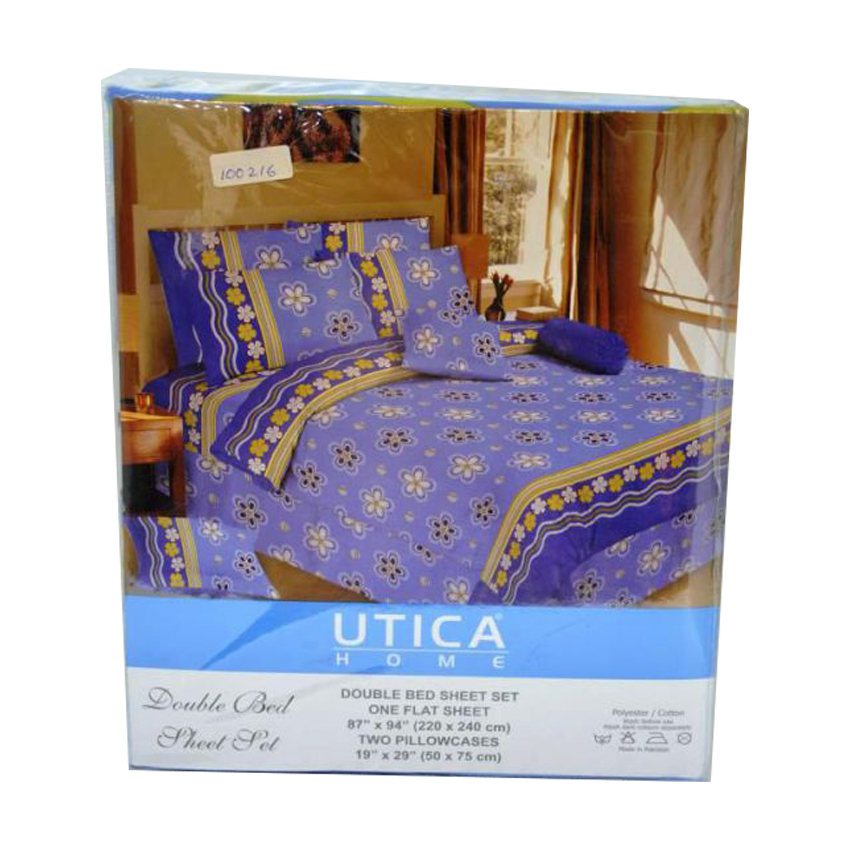 Double Bed Blue Sheet large 1