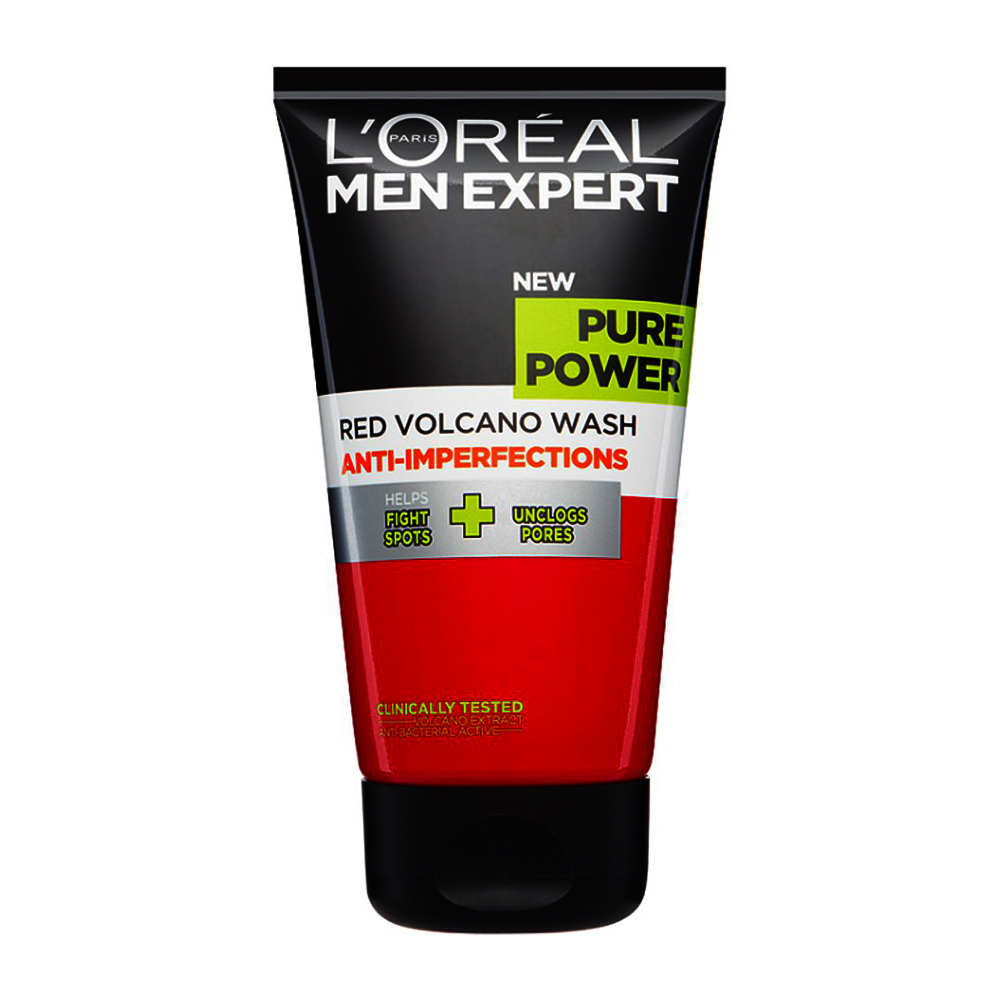 Loreal Pure Power Red Volcano Face Wash 150ml large 1