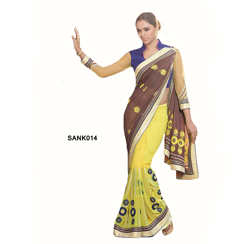 Designer Saree SANK014 large 1