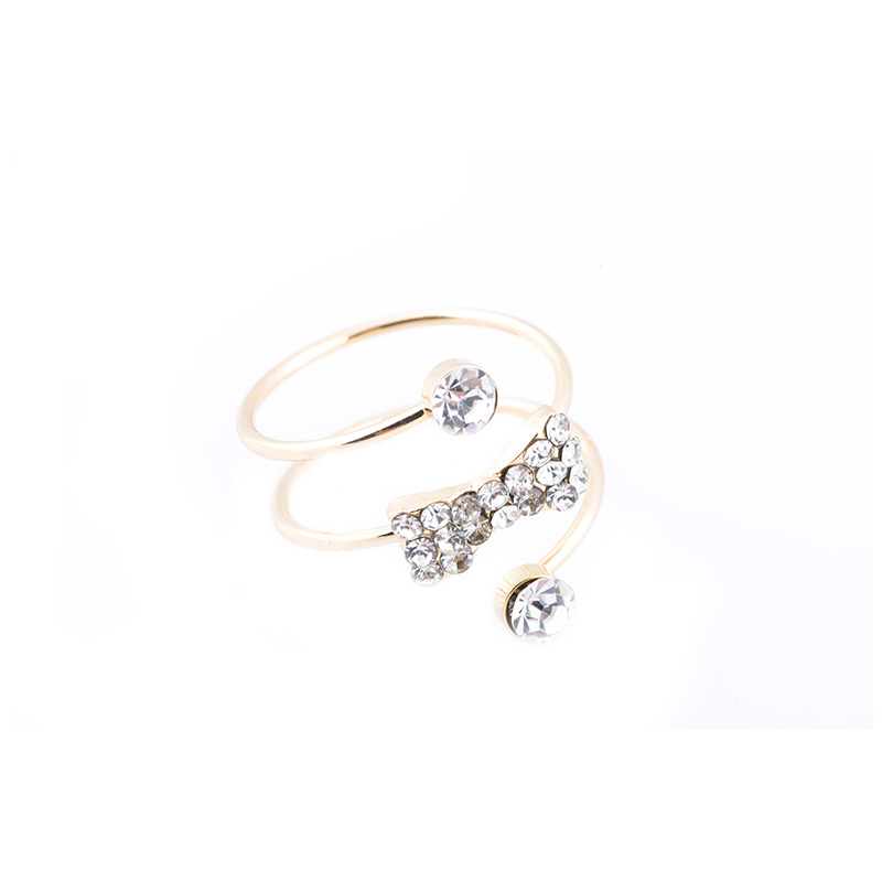 Gold Bow Spiral Ring RGGBS large 1