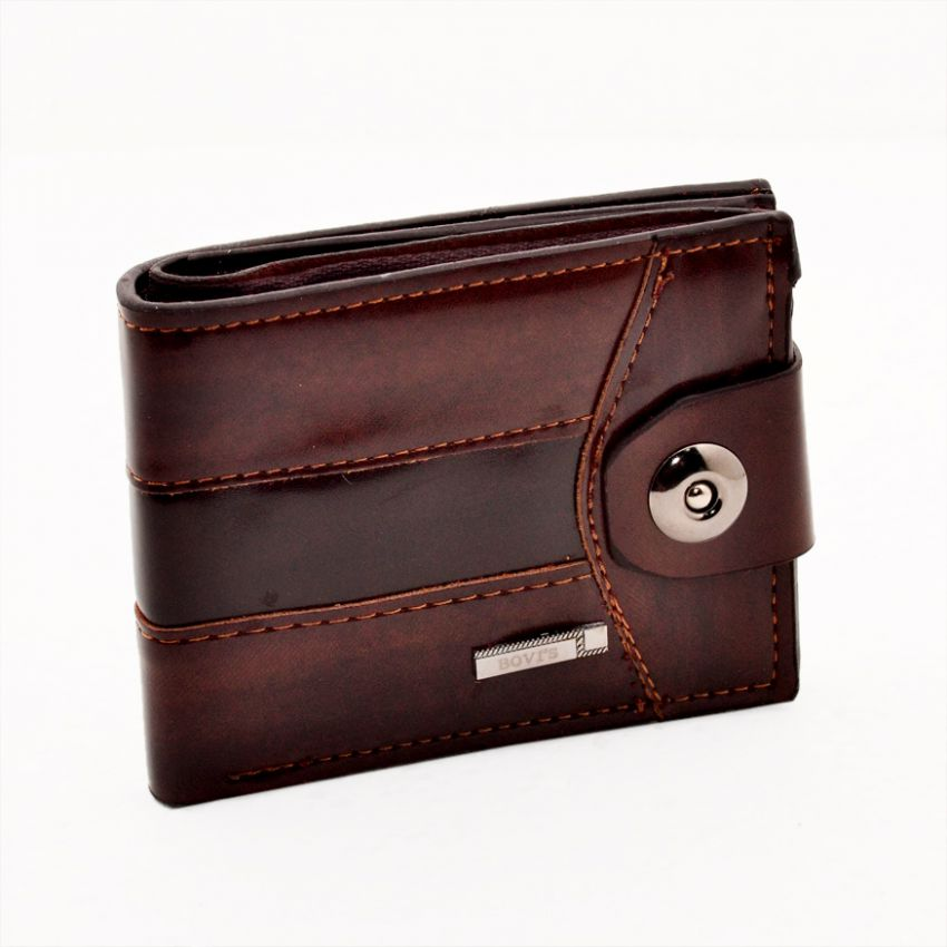 Brown Men Casual Leather Wallet large 1