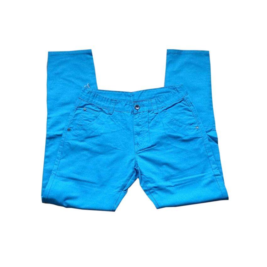 Light Blue Cotton Jeans Slim Fit