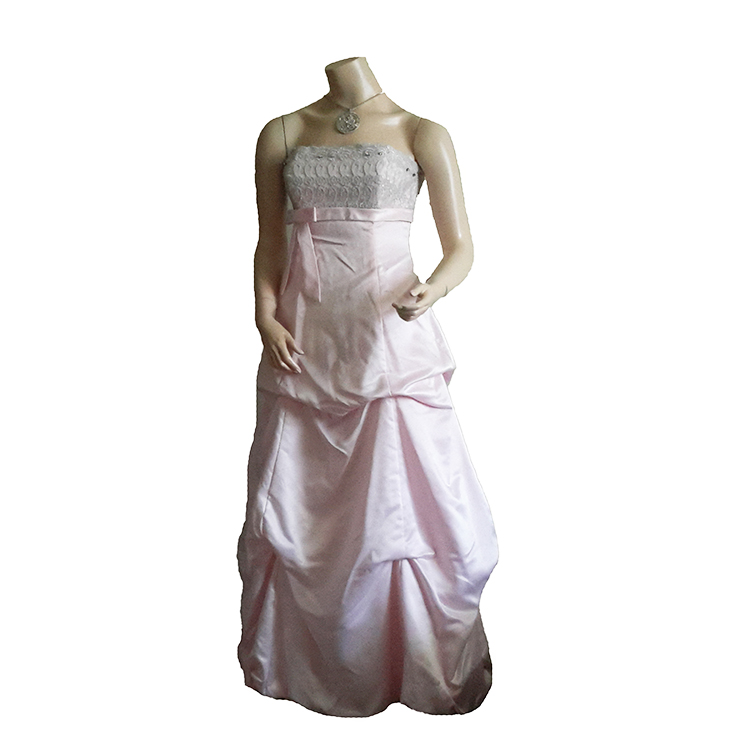 Baby Pink Long Frock large 1
