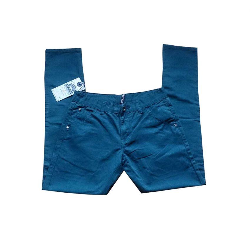 Blue Slim Fit Cotton Jeans