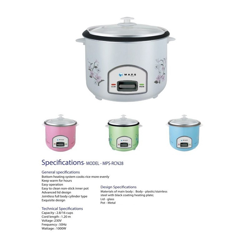 MAPS Rice Cooker 2.8L MPS RCN28 large 2