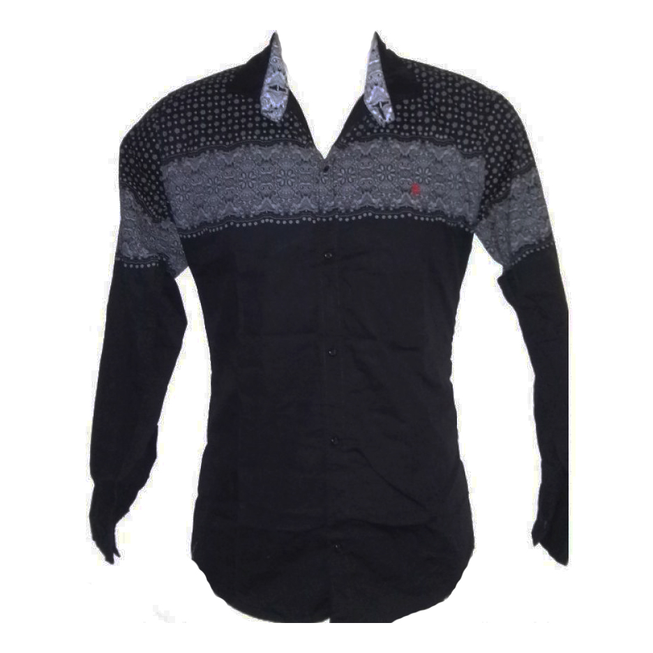 Men Indian Slim Fit Black Shirt