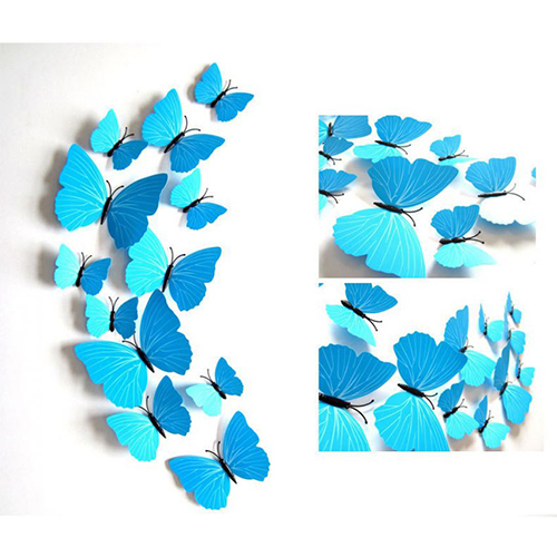 3D Blue Magnet Butterflies with Gift Box large 2
