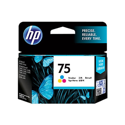 Hp 75 Inkjet Tri Color Ink Cartridge large 1