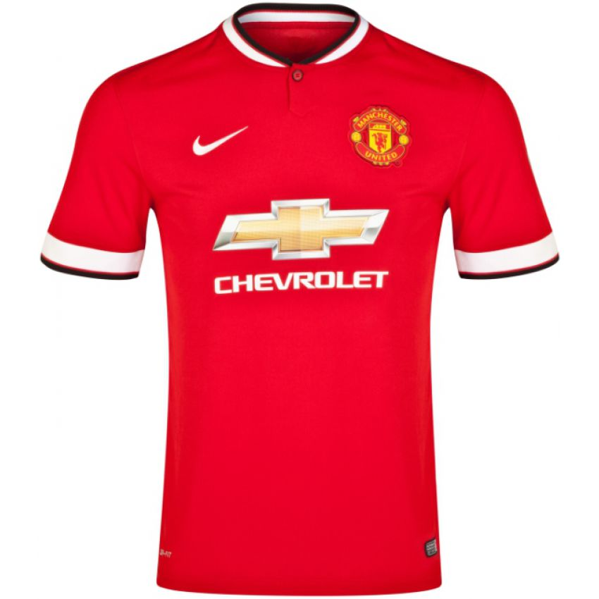 Red Manchester United Football Jersey large 1