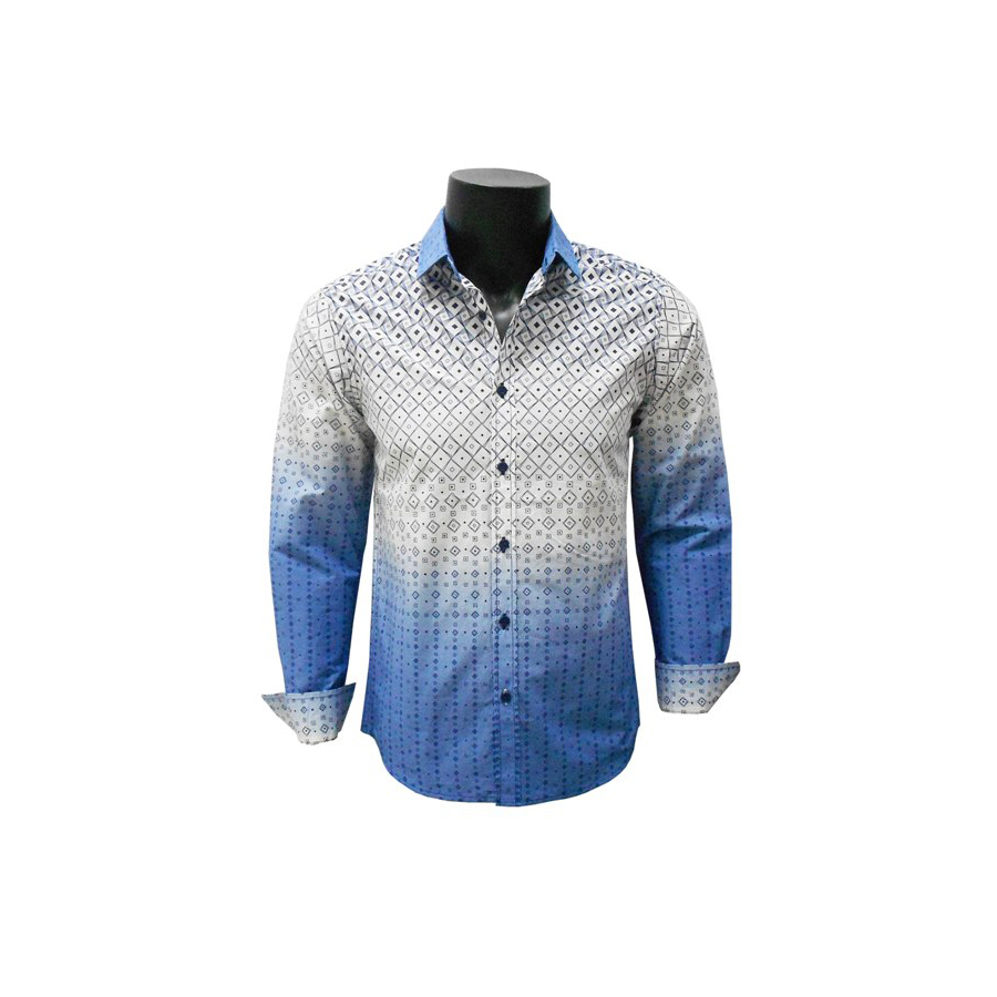 Mens Shirt Blue With White CPSF0043LS88