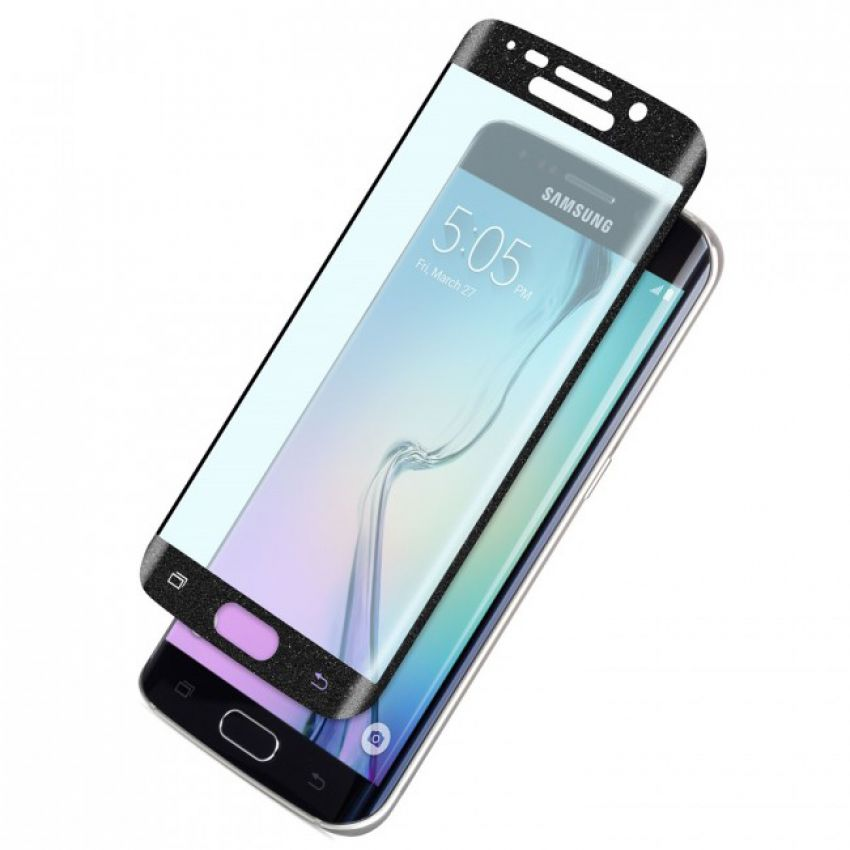 Samsung Galaxy S6 Edge Full Cover Curved  Black Tempered Glass