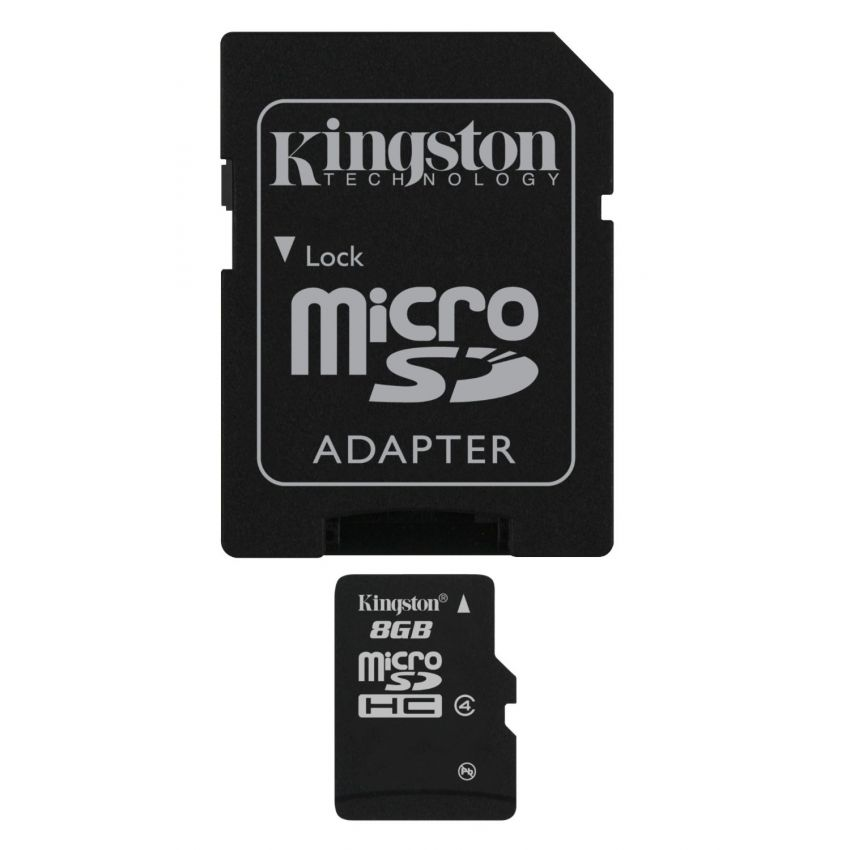 Kingston 8 GB Class 10 Microsd hc Flash Card large 1