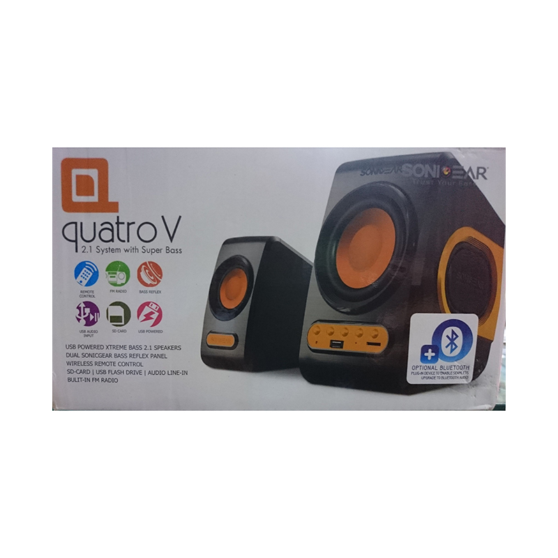 Sonicgear PC Speakers Quatro V large 1