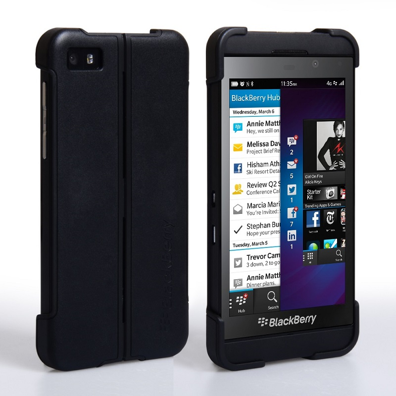 Blackberry Z10 Transform Shell Cover And Screen Protector large 1