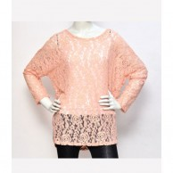 Lace Women Top - Pink
