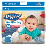 Drypers Baby Diapers Wee Wee Dry Medium 52 Pcs
