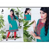 KAYA BRAND  Zara vol 09 REYON COTTON MATERIALS  Kurtha Tops design 08