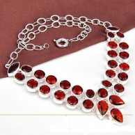 Women Garnet Necklace