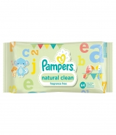 Pampers Natural Clean 64 Wet Wipes