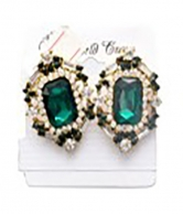 Women's Fashion Green Stoned Earrings