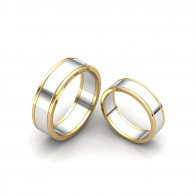 TWO TONE COUPLE RING WD-03