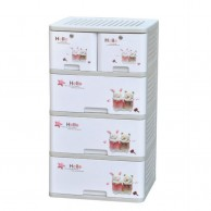 5 Layers Baby Plastic Drawer Cabinet