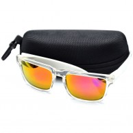 Gold Shaded White Frame Casual Mens Sunglasses With Pouch