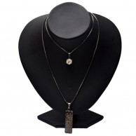Black Love Tag Chain For Ladies