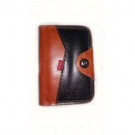 Men's Black and Brown Wallet