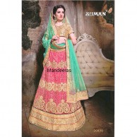 Multi Colour Embroidered Designer Lehenga Choli Design No 20008