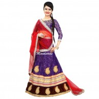 Purple Color Wedding Wear Designer Lehenga Choli 116