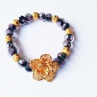 Elegant Flower Stretch Bracelet EZBR068