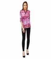 GEO FLORAL SATIN GLAM  TOP AVBL100834