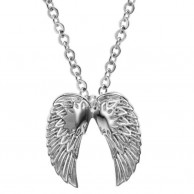 Men Stainless Steel Angel Necklace