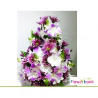 Purple orchid flower arrangement NB002