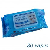 Baby Wet Wipes Blue 80 wipes