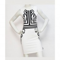 Cut Work Women Dress - White