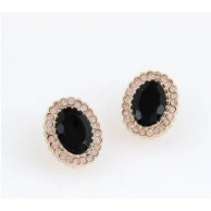 Luxury Black Crystal Earrings