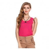 Solid Sleeveless Casual Top NIS 106