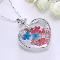 crystal heart shape floating locket