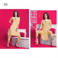 New desire Ethnic Indian Two Pcs Catalogue With Treny Pant In Bottom Kurta Kurti Top Dress Kurthi Kurtha D3