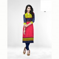 Minaz Cotton With Embroidered Works  Kurtha Tops 102